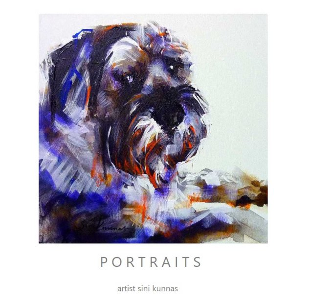 Dog portrait 30 x 30 cm Sini Kunnas
