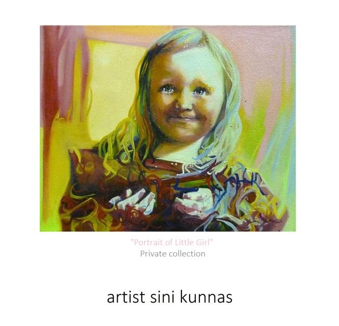 Lapsimuotokuva 4 taiteilijana Sini Kunnas holvi.com