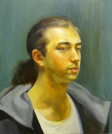 Man portrait-50x40cm Artist Sini Kunnas 2008